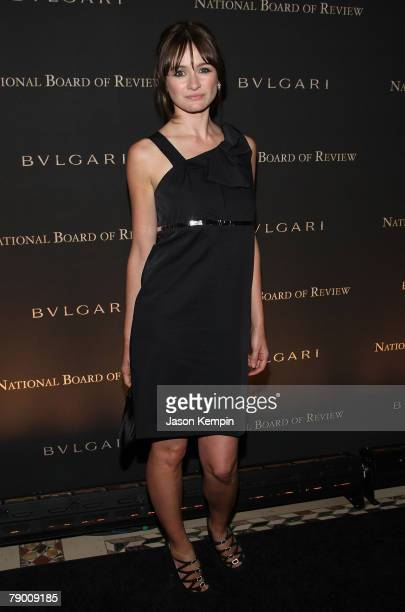 Actress Emily Mortimer attends the 2007 National Board of Review of Motion Pictures Annual Awards Gala at Cipriani 42nd Street on January 15 2008 in...