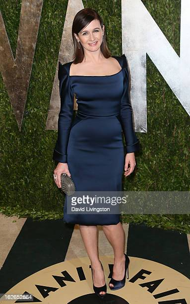 Actress Emily Mortimer attends the 2013 Vanity Fair Oscar Party at the Sunset Tower Hotel on February 24 2013 in West Hollywood California