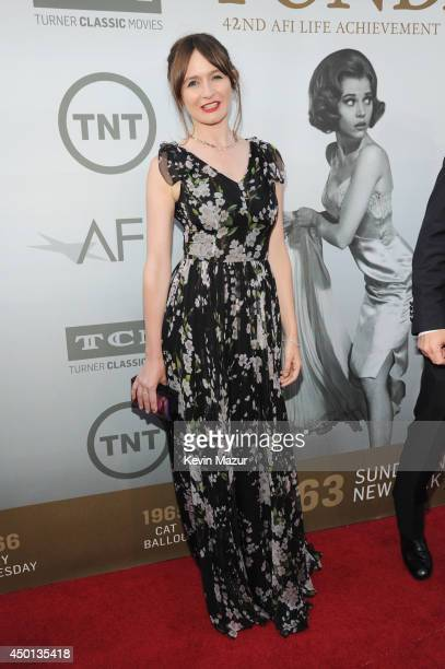 Actress Emily Mortimer attends the 2014 AFI Life Achievement Award A Tribute to Jane Fonda at the Dolby Theatre on June 5 2014 in Hollywood...