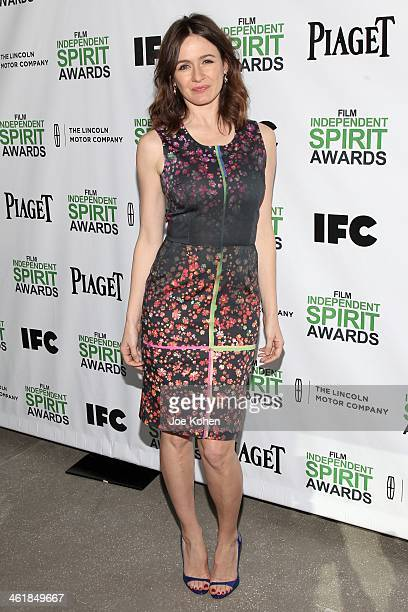 Actress Emily Mortimer attends the 2014 Film Independent Filmmaker Grant And Spirit Awards Nominees Brunch at BOA Steakhouse on January 11 2014 in...
