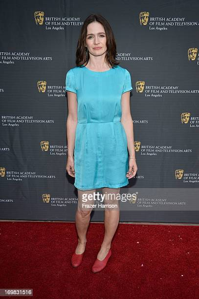 Actress Emily Mortimer attends the 26th Annual BAFTA LA Garden Party at the British Consuls General Residence on June 2 2013 in Los Angeles California