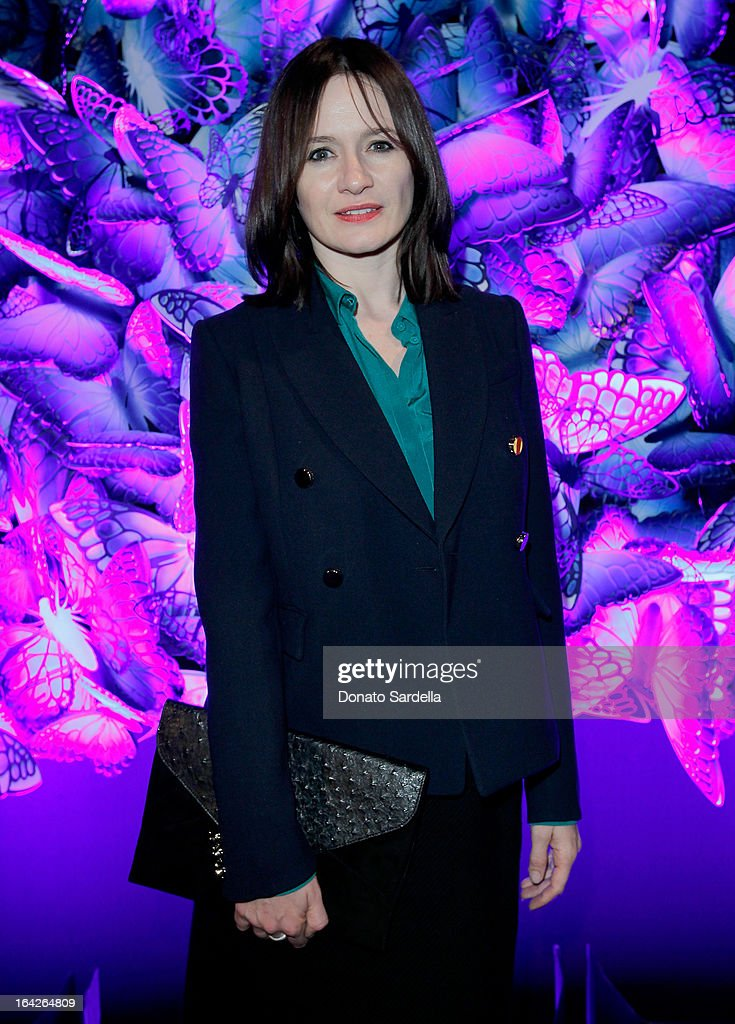 Actress Emily Mortimer attends the Mulberry Autumn Winter '13 celebration dinner at Chateau Marmont on March 21, 2013 in Los Angeles, California.