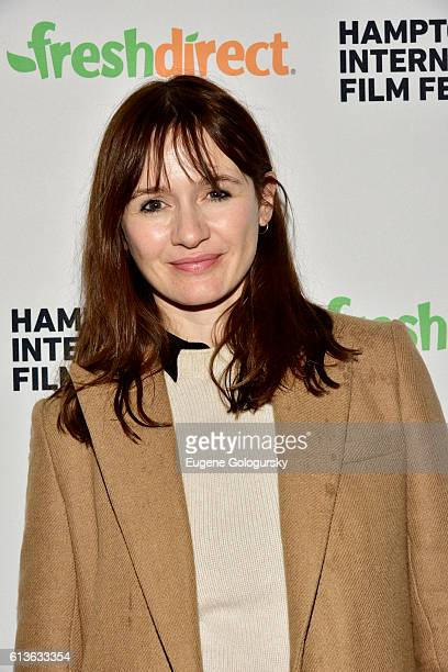 Actress Emily Mortimer attends the NYWIFT Shorts screening during the Hamptons International Film Festival 2016 at UA East Hampton Cinema 6 on...