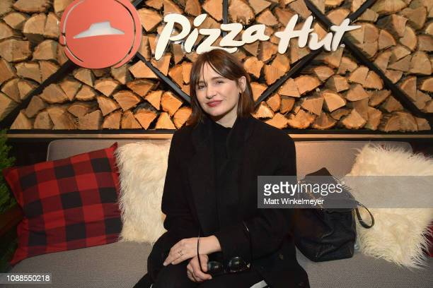 Actress Emily Mortimer attends the Pizza Hut Lounge at the 2019 Sundance Film Festival in Park City UT