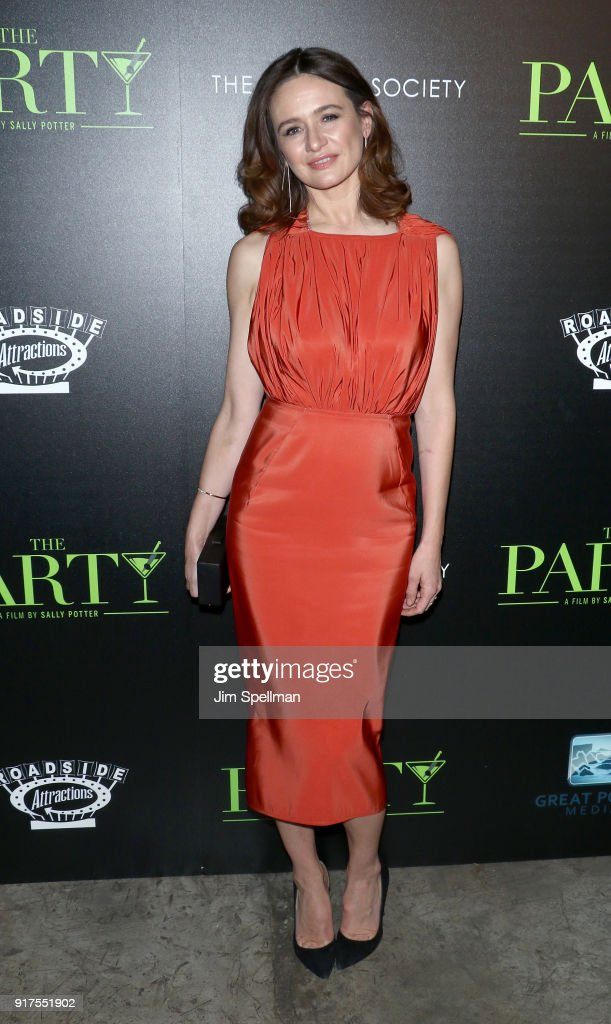 Actress Emily Mortimer attends the screening of 'The Party' hosted by Roadside Attractions and Great Point Media with The Cinema Society at Metrograph on February 12, 2018 in New York City.