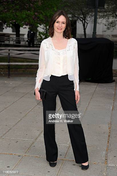 Actress Emily Mortimer attends the Vanity Fair Party at the 2011 Tribeca Film Festival at the State Supreme Courthouse on April 27 2011 in New York...
