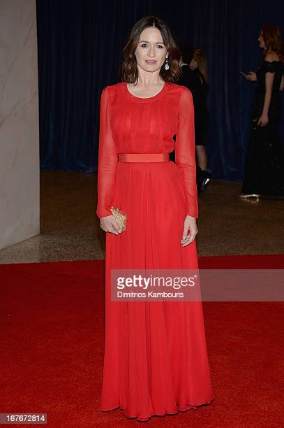 Actress Emily Mortimer attends the White House Correspondents' Association Dinner at the Washington Hilton on April 27 2013 in Washington DC