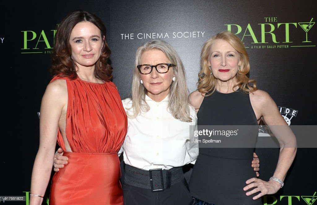 Actress Emily Mortimer, director Sally Potter and actress Patricia Clarkson attend the screening of 'The Party' hosted by Roadside Attractions and Great Point Media with The Cinema Society at Metrograph on February 12, 2018 in New York City.