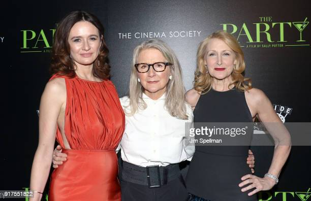 Actress Emily Mortimer director Sally Potter and actress Patricia Clarkson attend the screening of The Party hosted by Roadside Attractions and Great...