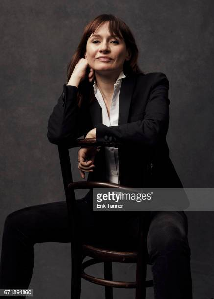 Actress Emily Mortimer from 'Broken Night' poses at the 2017 Tribeca Film Festival portrait studio on April 21, 2017 in New York City.