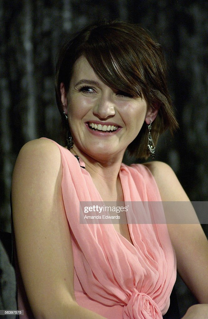 Actress Emily Mortimer participates in a Q&A session at the Variety Screening Series of 'Match Point' at the Arclight Theaters on December 8, 2005 in Hollywood, California.