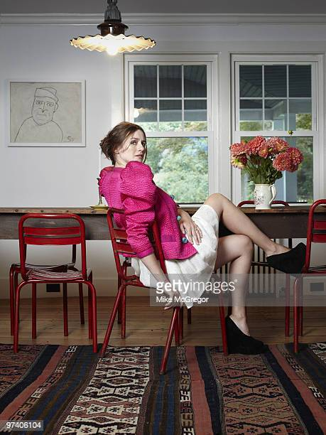 Actress Emily Mortimer poses at a portrait session in 2009