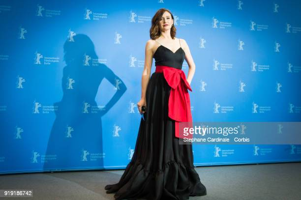 Actress Emily Mortimer poses at the 'The Bookshop' photo call during the 68th Berlinale International Film Festival Berlin at Grand Hyatt Hotel on...