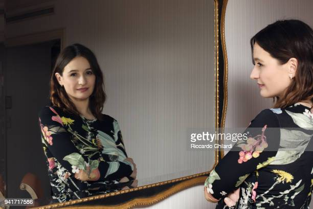 Actress Emily Mortimer poses for a portrait during the 68th Berlin International Film Festival on February, 2018 in Berlin, Germany. .