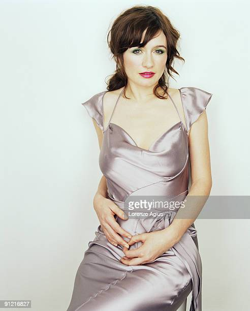 Actress Emily Mortimer poses for a portrait shoot on February 12 2005 in London