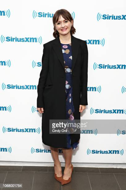 Actress Emily Mortimer visits the SiriusXM Studio on December 3 2018 in New York City