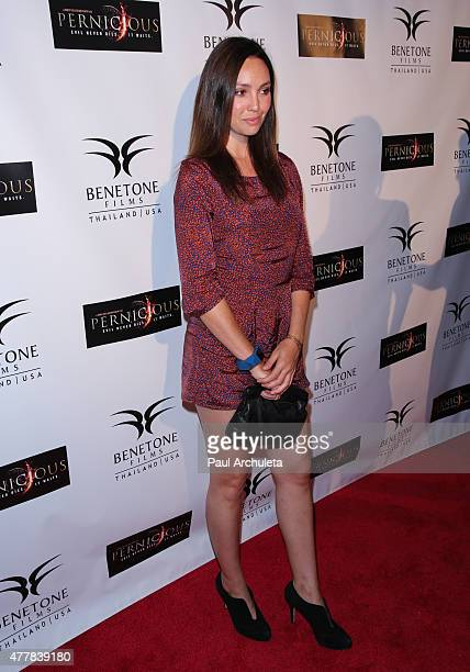Actress Emily O'Brien attends the premiere 'PERNICIOUS' at Arena Cinema Hollywood on June 19 2015 in Hollywood California