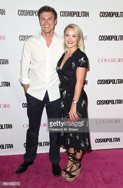 Actress Emily Osment and her guest attend Cosmopolitan's 50th Birthday Celebration at Ysabel on October 12 2015 in West Hollywood California
