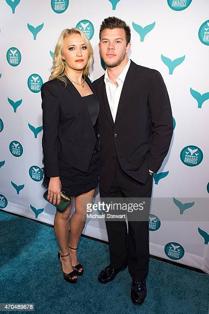Actress Emily Osment and Jimmy Tatro attend the 2015 Shorty Awards at TheTimesCenter on April 20 2015 in New York City