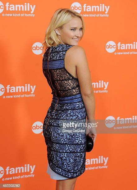 Actress Emily Osment arrives at the 2014 Television Critics Association Summer Press Tour Disney/ABC Television Group at The Beverly Hilton Hotel on...