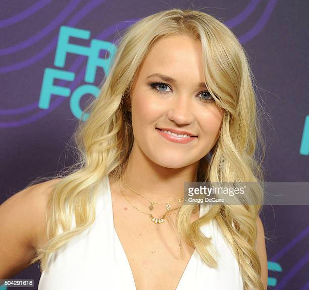 Actress Emily Osment arrives at the 2016 Winter TCA Tour - Disney/ABC at Langham Hotel on January 9, 2016 in Pasadena, California.