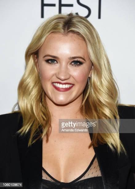 Actress Emily Osment arrives at the AFI FEST 2018 Presented By Audi The Kominsky Method World Premiere Gala Screening at TCL Chinese Theatre on...