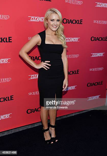 Actress Emily Osment arrives at the Crackle Original Series' 'Cleaners' and 'Sequestered' summer premiere celebration at 1 OAK on August 14 2014 in...