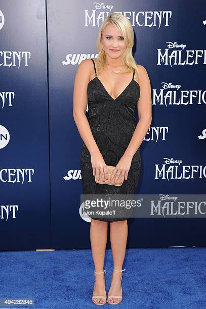 Actress Emily Osment arrives at the Los Angeles Premiere Maleficent at the El Capitan Theatre on May 28 2014 in Hollywood California