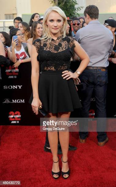 Actress Emily Osment arrives at the Los Angeles premiere of '22 Jump Street' at Regency Village Theatre on June 10 2014 in Westwood California