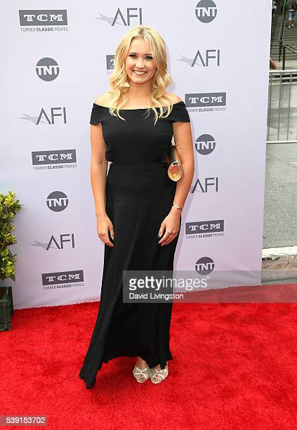 Actress Emily Osment attends American Film Institute's 44th Life Achievement Award Gala Tribute to John Williams at Dolby Theatre on June 9 2016 in...