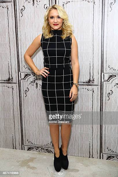 Actress Emily Osment attends AOL BUILD Speaker Series Emily Osment Discusses Her New Television Series 'Young And Hungry' at AOL Studios In New York...