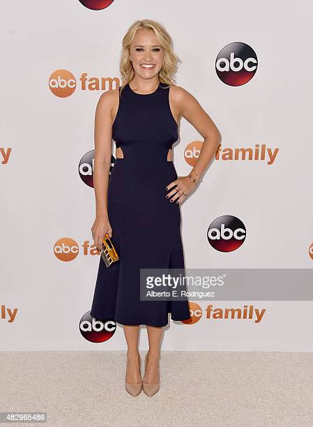 Actress Emily Osment attends Disney ABC Television Group's 2015 TCA Summer Press Tour at the Beverly Hilton Hotel on August 4 2015 in Beverly Hills...