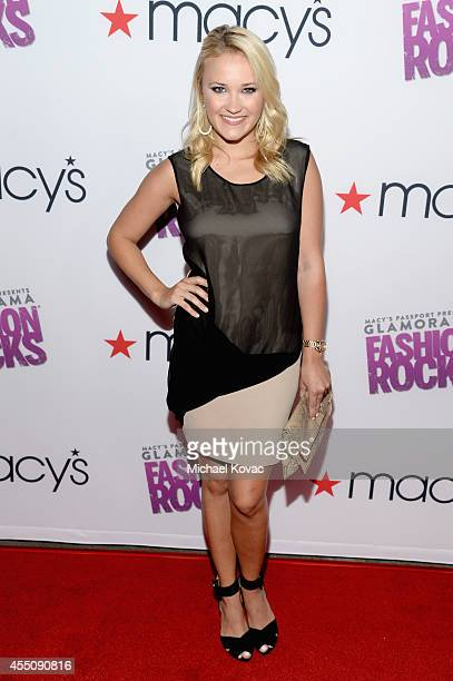 Actress Emily Osment attends Glamorama Fashion Rocks presented by Macy's Passport at Create Nightclub on September 9 2014 in Los Angeles California