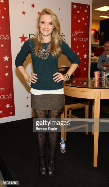 Actress Emily Osment attends the Christmas Window Unveiling Spectacular at Macy's Herald Square on November 19 2009 in New York City