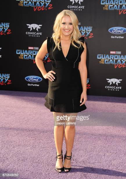 Actress Emily Osment attends the premiere of 'Guardians of the Galaxy Vol 2' at Dolby Theatre on April 19 2017 in Hollywood California