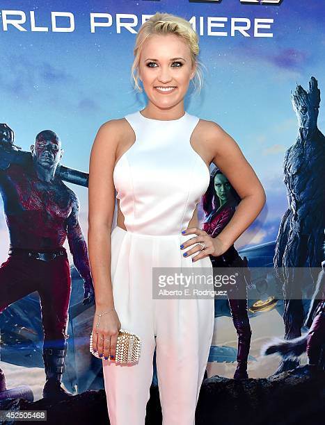 "Actress Emily Osment attends The World Premiere of Marvel's epic space adventure ""Guardians of the Galaxy"" directed by James Gunn and presented in..."