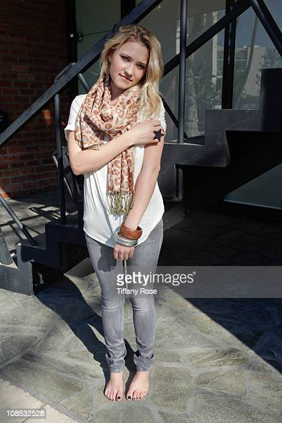 Actress Emily Osment poses during a private photo session at P3R publicity offices on January 28 2011 in Beverly Hills California
