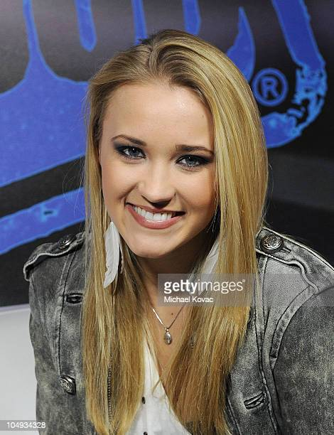 Actress Emily Osment visits YoungHollywoodcom at Young Hollywood Studio on October 6 2010 in Los Angeles California