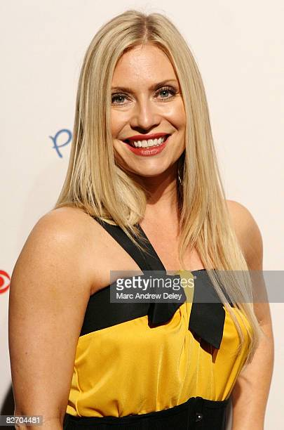 Actress Emily Procter attends the grand opening of the CBS Scene Restaurant Bar at Patriot Place on September 6 2008 in Foxboro Massachusetts