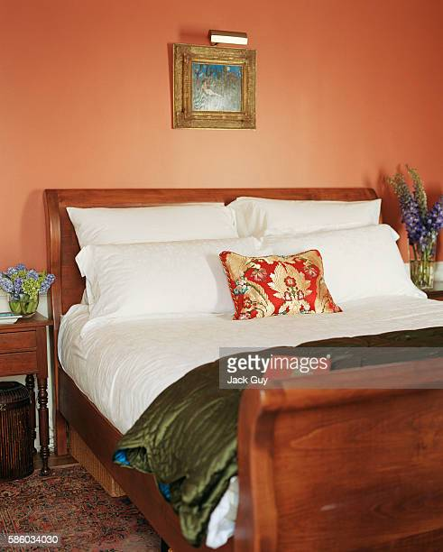 Actress Emily Procter's home is photographed for InStyle Magazine in 2003 in Los Angeles California Emily Procter's bedroom