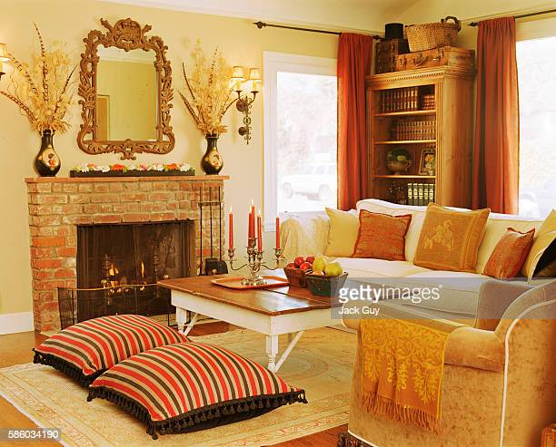 Actress Emily Procter's home is photographed for InStyle Magazine in 2003 in Los Angeles California Emily Procter's living room