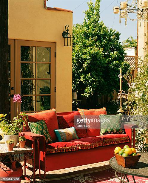 Actress Emily Procter's home is photographed for InStyle Magazine in 2003 in Los Angeles California Emily Procter's patio