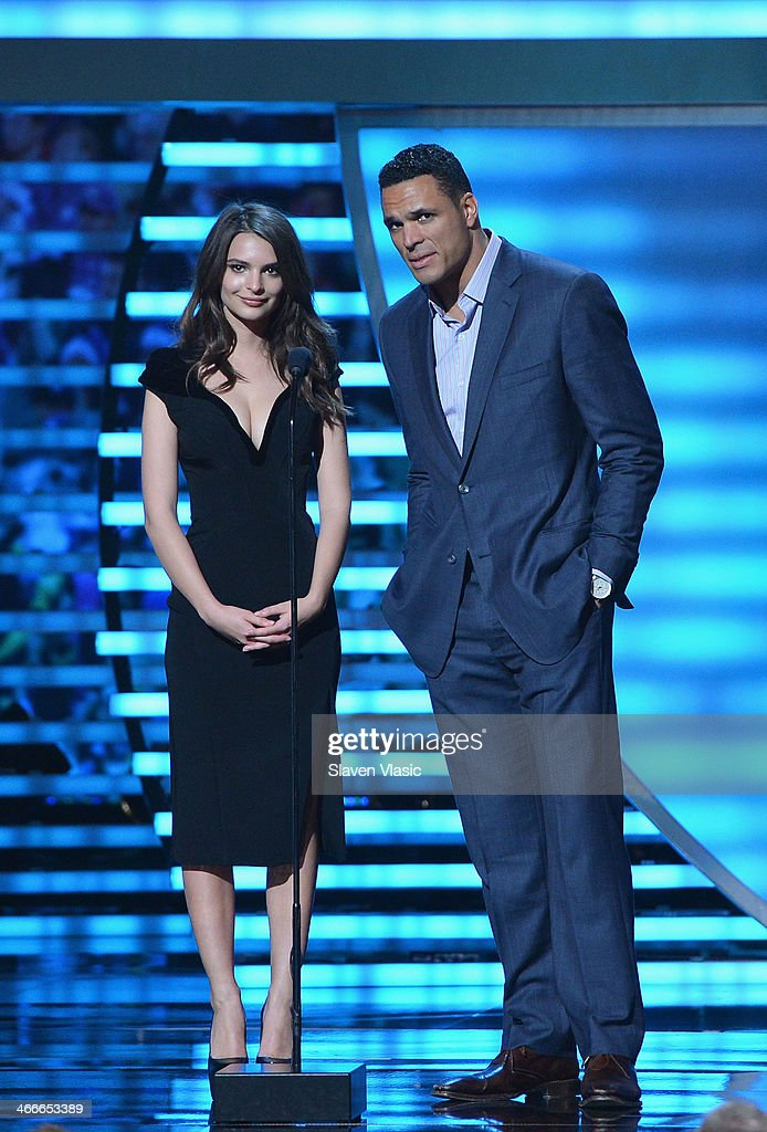 Actress Emily Ratajkowski and former Kansas City Chiefs tight end Tony Gonzalez attend the 3rd Annual NFL Honors at Radio City Music Hall on February 1, 2014 in New York City.