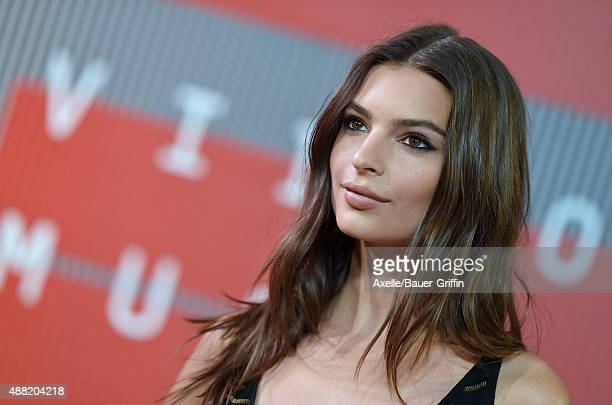 Actress Emily Ratajkowski arrives at the 2015 MTV Video Music Awards at Microsoft Theater on August 30 2015 in Los Angeles California