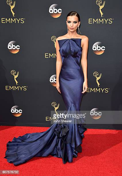 Actress Emily Ratajkowski arrives at the 68th Annual Primetime Emmy Awards at Microsoft Theater on September 18 2016 in Los Angeles California