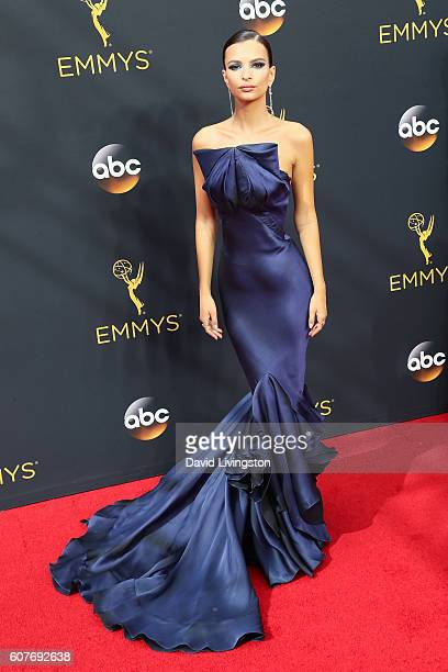 Actress Emily Ratajkowski arrives at the 68th Annual Primetime Emmy Awards at the Microsoft Theater on September 18 2016 in Los Angeles California