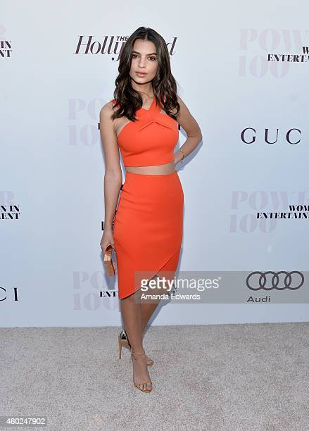 Actress Emily Ratajkowski arrives at The Hollywood Reporter's Women In Entertainment Breakfast at Milk Studios on December 10 2014 in Los Angeles...