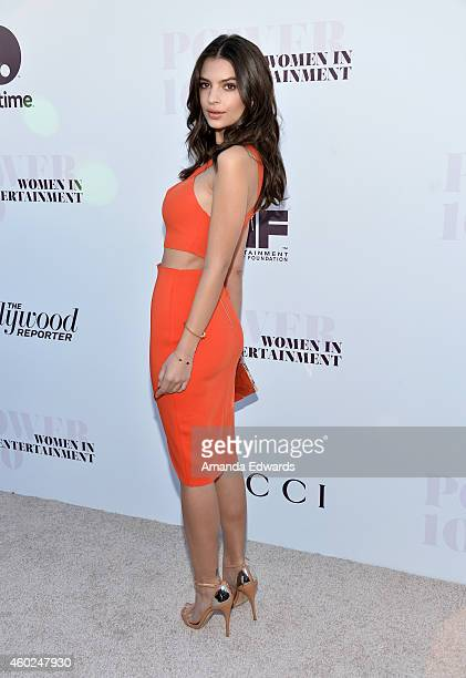 Actress Emily Ratajkowski arrives at The Hollywood Reporter's Women In Entertainment Breakfast at Milk Studios on December 10, 2014 in Los Angeles,...