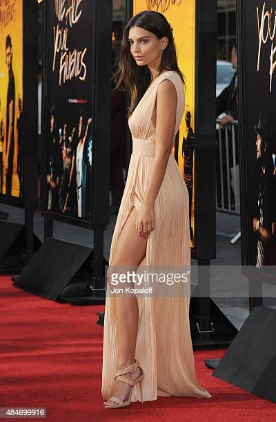 Actress Emily Ratajkowski arrives at the Los Angeles Premiere 'We Are Your Friends' at TCL Chinese Theatre on August 20 2015 in Hollywood California