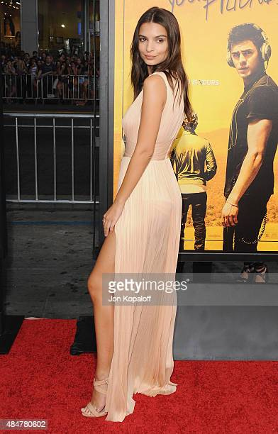 Actress Emily Ratajkowski arrives at the Los Angeles Premiere We Are Your Friends at TCL Chinese Theatre on August 20 2015 in Hollywood California